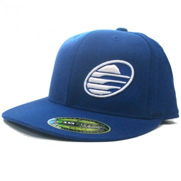 Cleanline Embroidered Rock Flat-Bill Hat - Royal/White