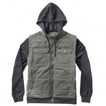 RVCA Puffer Twill Jacket - Dusty Olive