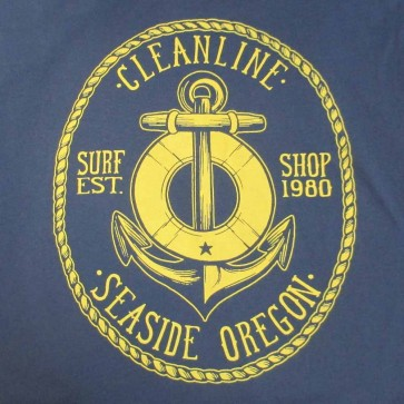 Cleanline Anchor T-Shirt - Navy