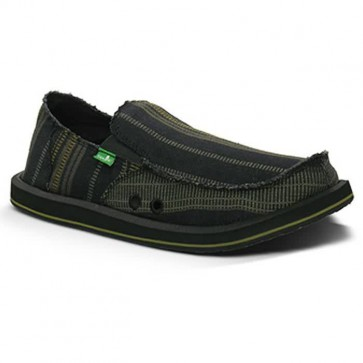 Sanuk Donny Sidewalk Surfers - Black/Yellow