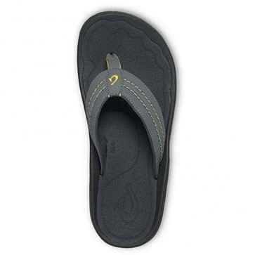 Olukai Hokua Sandals - Charcoal/Dark Shadow