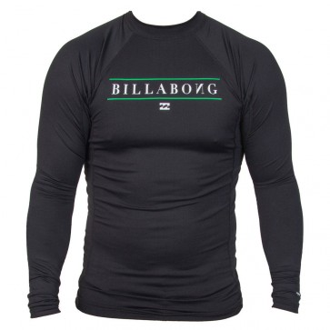 Billabong Wetsuits Youth All Day Long Sleeve Rash Guard - Black