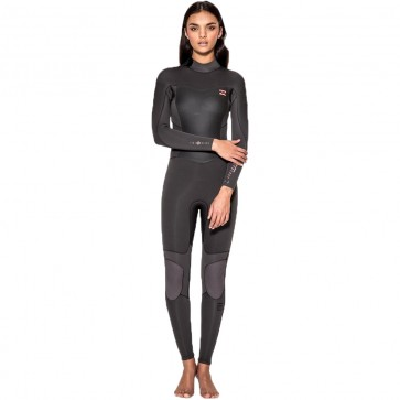 Billabong Women's Synergy 4/3 Back Zip Wetsuit - Off Black
