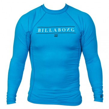Billabong Wetsuits All Day Long Sleeve Rash Guard - New Blue