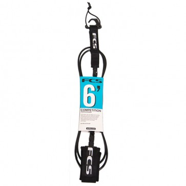 FCS Premium Shortboard Competition Leash - 6'