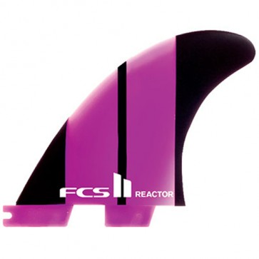 FCS II Fins - Reactor Neo Glass Tri Medium - Purple/Black