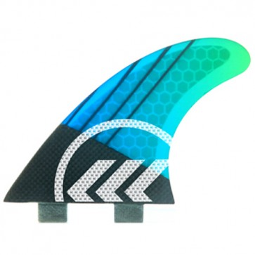 Kinetik Racing Fins - Parko Phase 4 Medium FCS - Blue/Green Fade