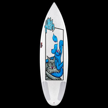 "Lib Tech Surfboard - 6'2"" Bowl Series - Blue Girl"