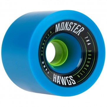 Landyachtz 76mm Monster Hawgs - Blue - 78a