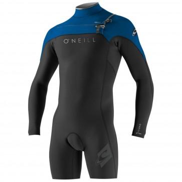 O'Neill HyperFreak 2mm Long Sleeve Spring Wetsuit - Black/DeepSea/Smoke