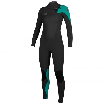 O'Neill Women's SuperFreak 4/3 Wetsuit - Black/Aqua/Sorbet