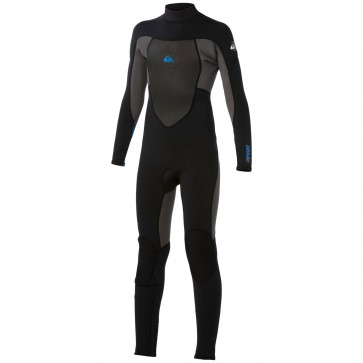 Quiksilver Youth Syncro 5/4/3 Back Zip Wetsuit - Black/Graphite/Blue