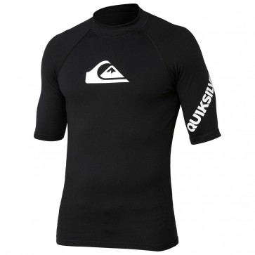 Quiksilver Wetsuits All Time Short Sleeve Rash Guard - Black