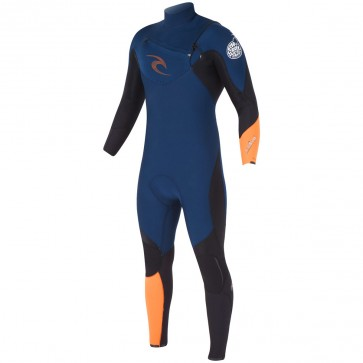 Rip Curl E-Bomb 4/3 Chest Zip Wetsuit - Orange