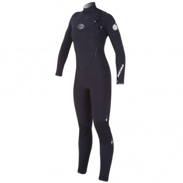 Rip Curl Women's Flash Bomb 3/2 Chest Zip Wetsuit - Black
