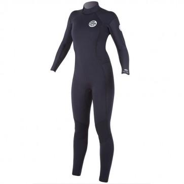 Rip Curl Women's Dawn Patrol 4/3 Wetsuit - Black