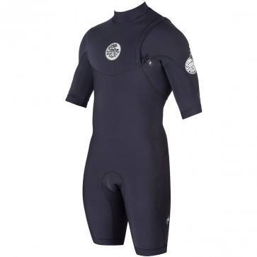 Rip Curl E-Bomb Pro Short Sleeve Zip Free Spring Wetsuit - Black