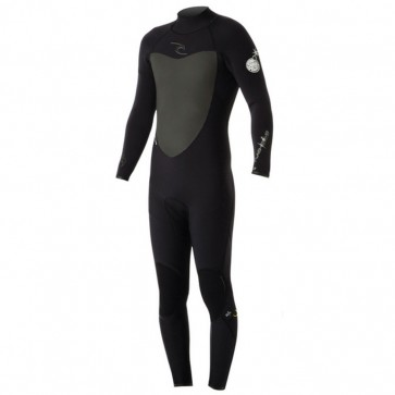 Rip Curl Flash Bomb 3/2 Back Zip Wetsuit - Black