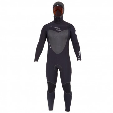 Rip Curl Flash Bomb 5.5/4 Hooded Chest Zip Wetsuit - Black