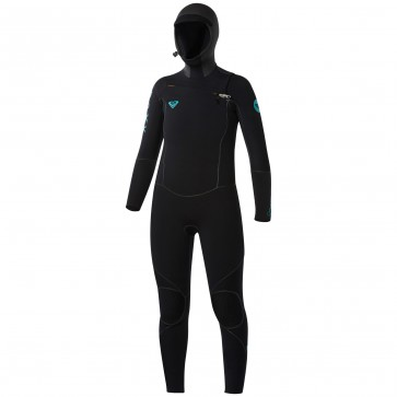 Roxy Women's Cypher 5/4/3 Hooded Wetsuit - Black