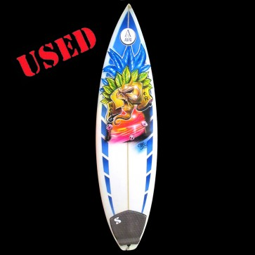 7S Surfboards - USED 6'0 7S Airbrushed Thruster