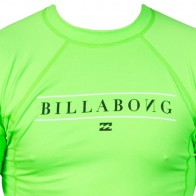 Billabong Wetsuits All Day Short Sleeve Rash Guard - Neon Green