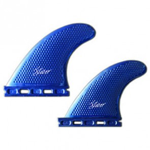 3D Fins - Quad Medium 5.0 Full Base - Blue Metal