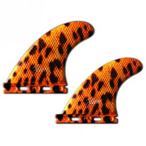 3D Fins - Quad Medium 5.0 Full Base - Leopard