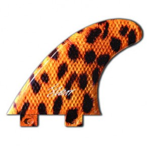 3D Fins - Tri Medium 5.0 Twin Tab - Leopard