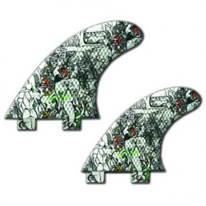 3D Fins - Quad Medium 5.0 Twin Tab - Elephant Girl