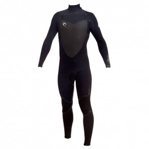 Rip Curl Flash Bomb 3/2 Chest Zip Wetsuit - Black/Black/Black (BLK)