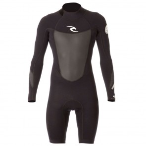 Rip Curl Dawn Patrol L/S Back Zip Spring Wetsuit - Black