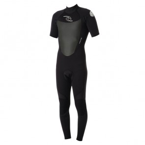 Rip Curl Wetsuits Dawn Patrol 2mm Short Sleeve Back Zip Wetsuit - Black