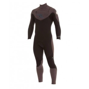 Rip Curl E-Bomb Pro 3/2 Chest Zip Wetsuit - Black/Charcoal Heather(Marle)