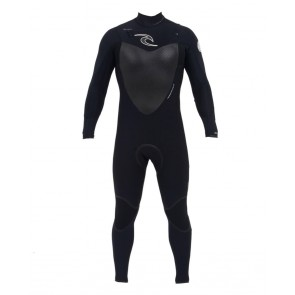 Rip Curl Flash Bomb Plus 4/3 Chest Zip Wetsuit - Black