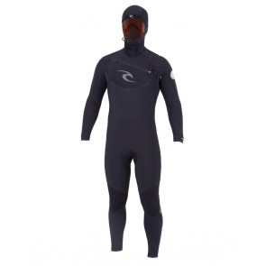 Rip Curl E-Bomb 5.5/4.5 Hooded Chest Zip Wetsuit - Black
