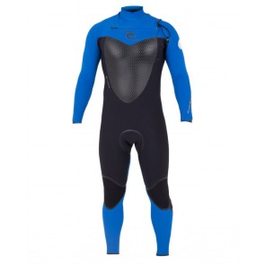 Rip Curl Flash Bomb 3/2 Chest Zip Wetsuit - Blue