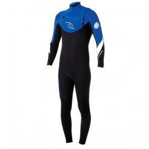 Rip Curl Dawn Patrol 3/2 Chest Zip Wetsuit - Blue