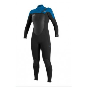 O'Neill Women's SuperFreak 4/3 Wetsuit - Black/Ruby Blue