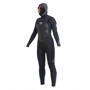 Rip Curl Women's Flash Bomb 5/4 Chest Zip Wetsuit - Black