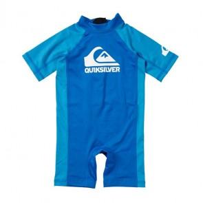 Quiksilver Toddler Shore Pound Rash Guard Spring Suit - Aster Blue