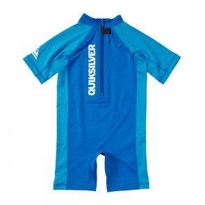 Quiksilver Wetsuits Toddler Shore Pound Rash Guard Spring Suit - Aster Blue