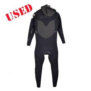 USED Rip Curl Flash Bomb 5/4 Hooded CZ Wetsuit - Size LS