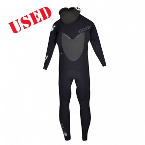 USED Rip Curl Womens Flash Bomb 5/4 Hooded CZ Wetsuit - Size 8