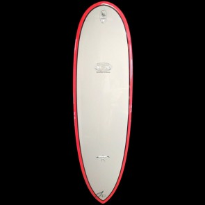 Epoxy Flyer Surfboards - 6'4'' Donald Takayama Scorpion - Grey/Red
