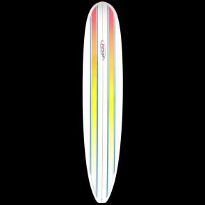 Global Surf Industries - 9'6'' NSP Longboard Surfboard - Orange Pin Lines