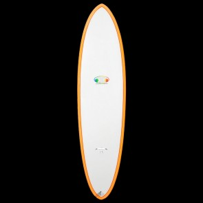 Epoxy Flyer Surfboards - 6'8'' Donald Takayama Flo Egg - Grey/Orange