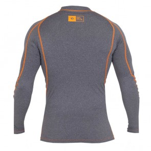 Rip Curl Wetsuits Ripawatu Long Sleeve Rash Guard - Grey Heather