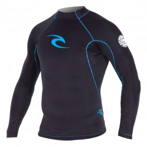 Rip Curl Aggrolite Reversible 1.5mm Long Sleeve Jacket - Black/Blue