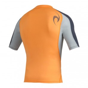 Rip Curl Wetsuits Wave Short Sleeve Rash Guard - Orange